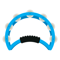 Hand held tambourine instrument icon