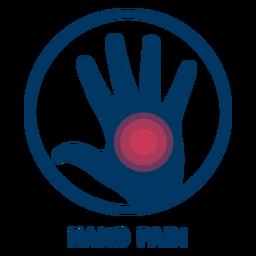 Icono de dolor de mano
