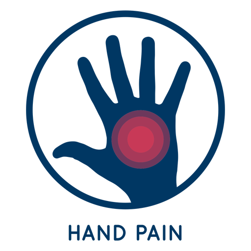 Hand pain icon Transparent PNG