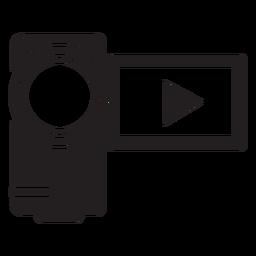 Handycam camcorder flat icon