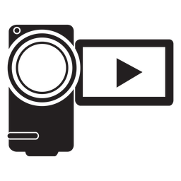 Icono plano de videocámara Handycam