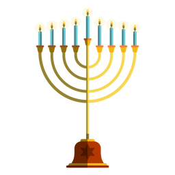 Ilustración de la menorá del candelabro de Hanukkah