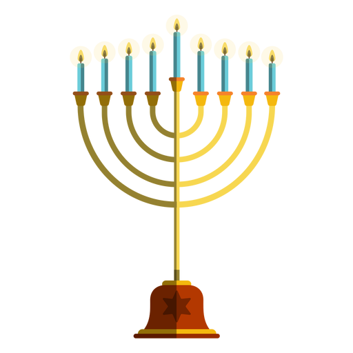 Hanukkah candelero menorah ilustración Transparent PNG