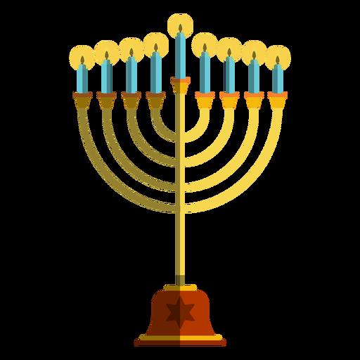 Ilustração da menorá com castiçal de Hanukkah Transparent PNG