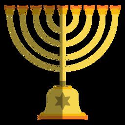 Candelabro menorá de Hanukkah