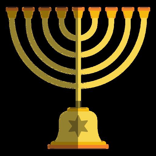 Candelabro menorá de Hanukkah Transparent PNG
