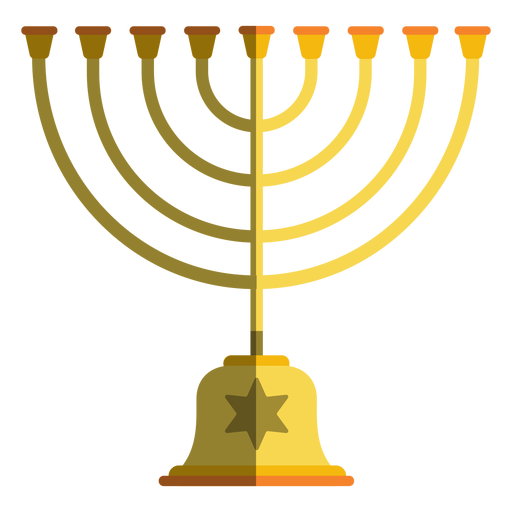 Hanukkah menorah candlestick Transparent PNG