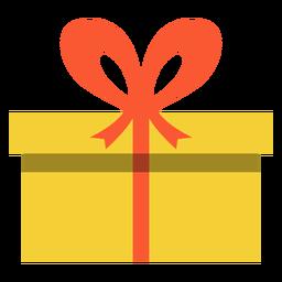 Hanukkah caixa de presente amarela