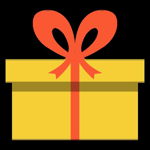 Hanukkah yellow present box Transparent PNG