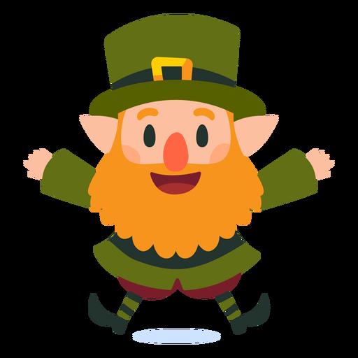 Happy leprechaun jumping cartoon