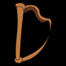 Doodle de instrumento musical de harpa