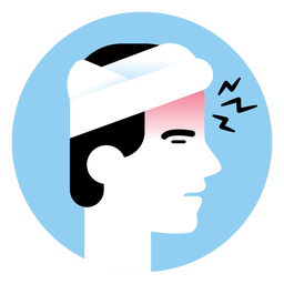 Headache sickness symptom icon