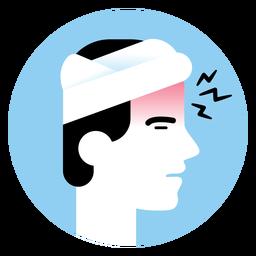 Ícone de sintoma de doença de dor de cabeça