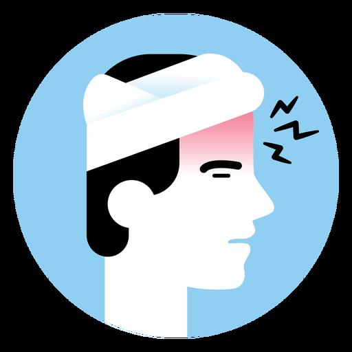 Ícone de sintoma de dor de cabeça Transparent PNG