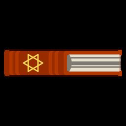Icono de libro de la Biblia hebrea