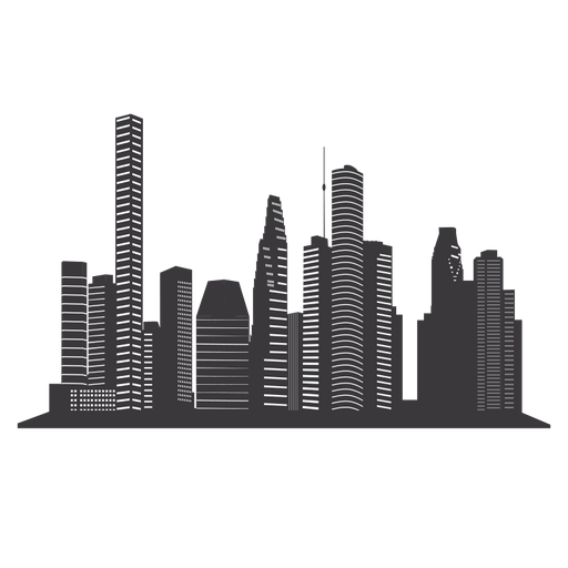 Heuston skyline silhouette Transparent PNG