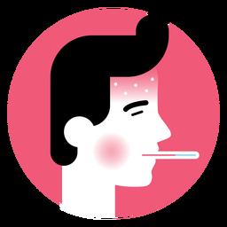 Icono de síntoma de la fiebre alta