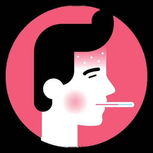 Icono de síntoma de enfermedad de fiebre alta Transparent PNG
