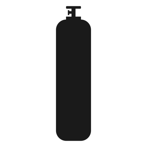 High pressure gas bottle silhouette Transparent PNG