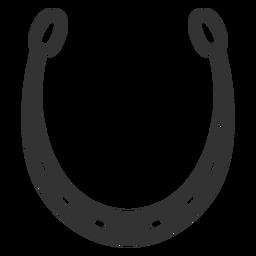 Hufeisen-Symbol Silhouette