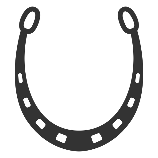 Horseshoe icon silhouette Transparent PNG