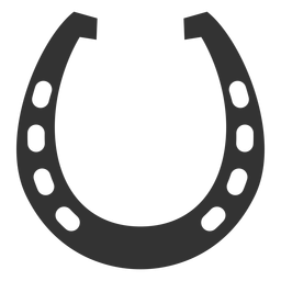 Horseshoe racing plate silhouette