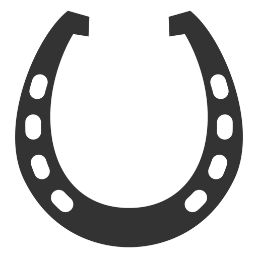 Horseshoe racing plate silhouette Transparent PNG