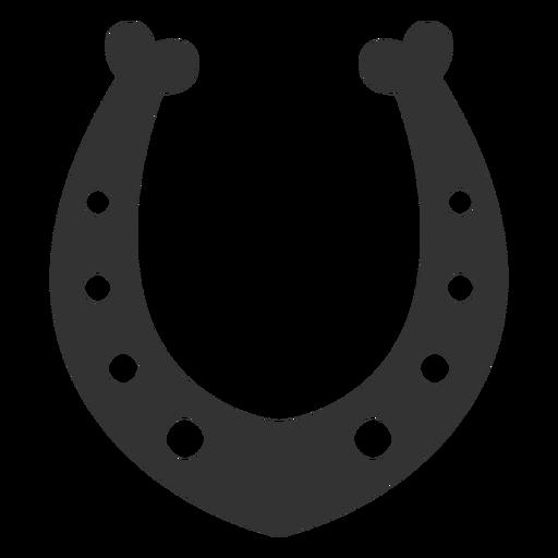 Silhueta de talismã em ferradura Transparent PNG