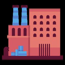 Ilustração do edifício industrial