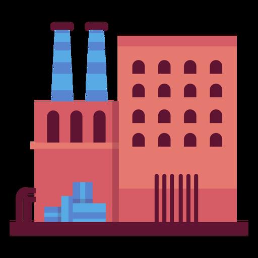 Industrial building illustration Transparent PNG