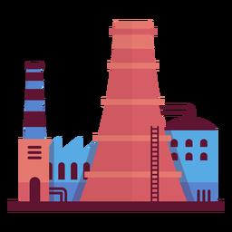 Ilustração de fábrica industrial