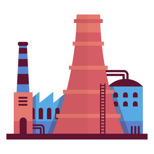 Industrial factory illustration Transparent PNG