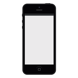 Maqueta de smartphone negro iphone