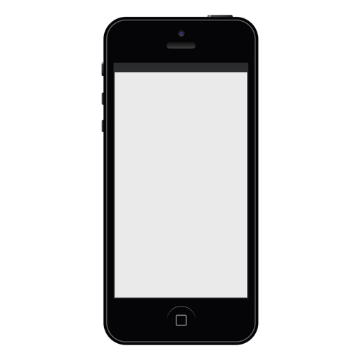 Iphone black smartphone mockup Transparent PNG