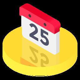 Icono de calendario isométrico