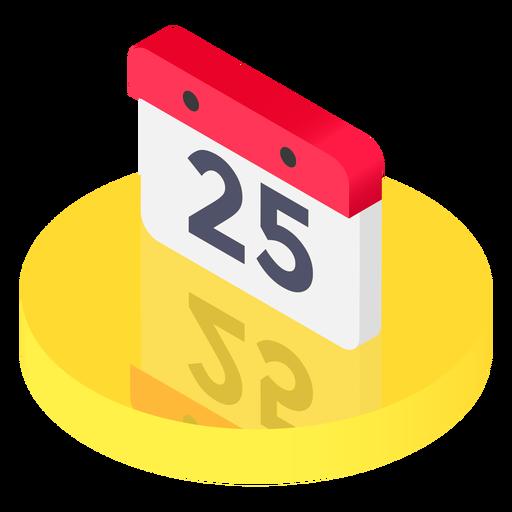 Isometric calendar icon Transparent PNG