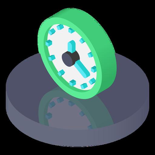 Ícone do relógio isométrico Transparent PNG