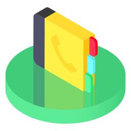 Isometric contacts icon