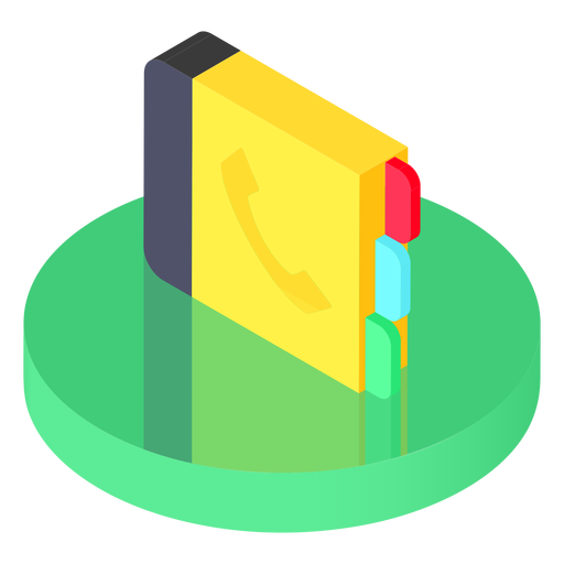 Isometric contacts icon Transparent PNG
