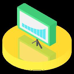 Ícone de placa de gráfico isométrico