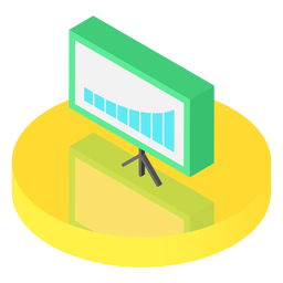 Isometric graph board icon