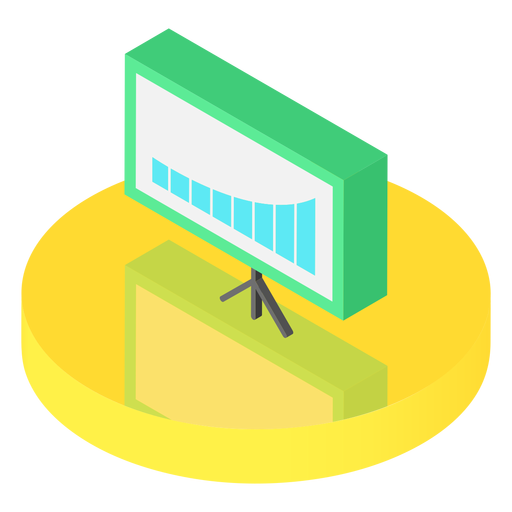Isometric graph board icon Transparent PNG