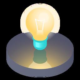 Ícone de lâmpada isométrica