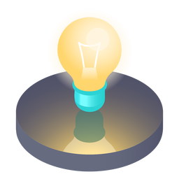 Isometric light bulb icon