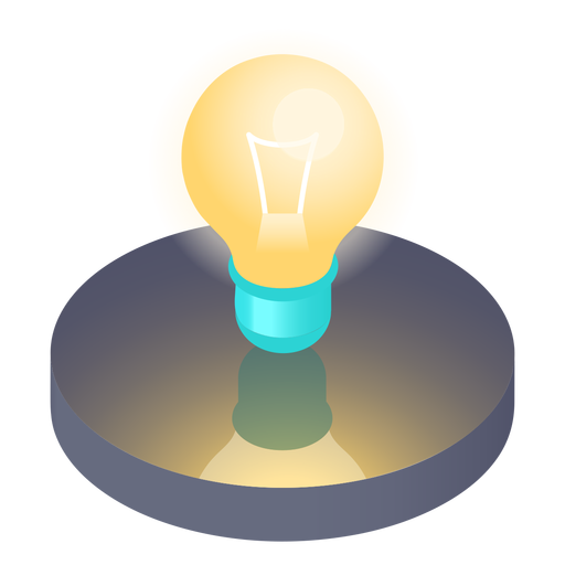 Isometric light bulb icon Transparent PNG