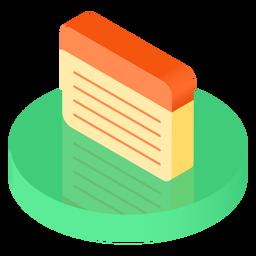 Icono de hoja de cuaderno isométrico