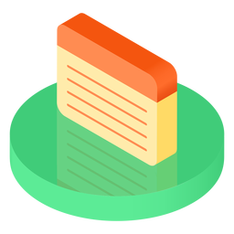 Isometric notebook sheet icon