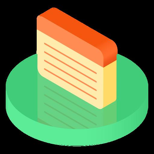 Icono de hoja de cuaderno isométrica Transparent PNG
