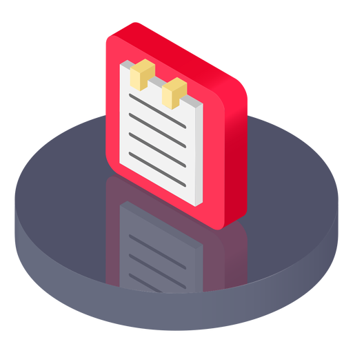 Isometric notes icon Transparent PNG