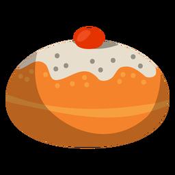Donut em pó com recheio de gelatina